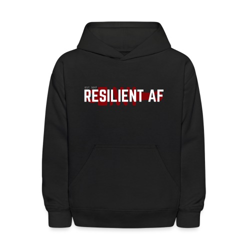 RESILIENT WHITE with red - Kids' Hoodie