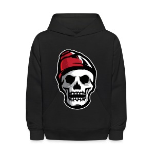 Custom Skull With Ice Cap Merch! - Kids' Hoodie
