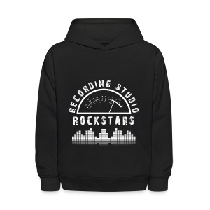 Recording Studio Rockstars - White Logo - Kids' Hoodie