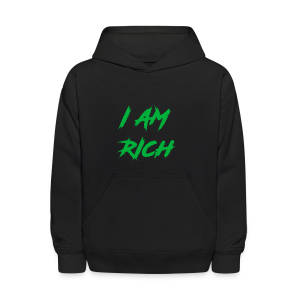 I AM RICH (WASTE YOUR MONEY) - Kids' Hoodie