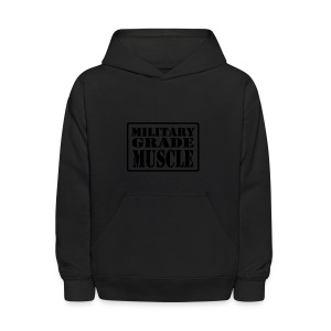 Military Grade Muscle Black - Kids' Hoodie