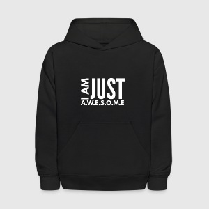 I AM JUST AWESOME - WHITE CLASSIC - Kids' Hoodie