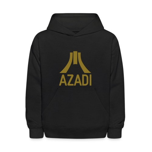 Azadi retro stripes - Kids' Hoodie