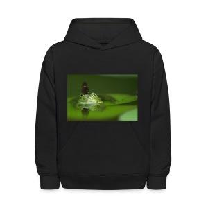 frog butterfly - Kids' Hoodie