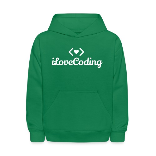 I Love Coding - Kids' Hoodie
