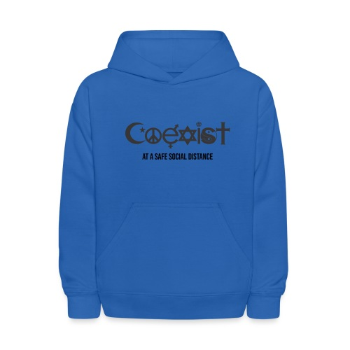 Coexist at a safe social distance - Kids' Hoodie