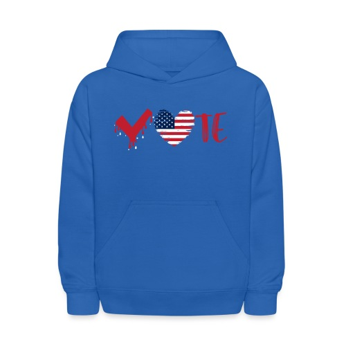 vote heart red - Kids' Hoodie
