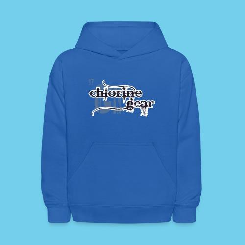 Chlorine Gear Textual B W - Kids' Hoodie