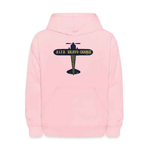 International Phonetic Alphabet Airplane - Kids' Hoodie