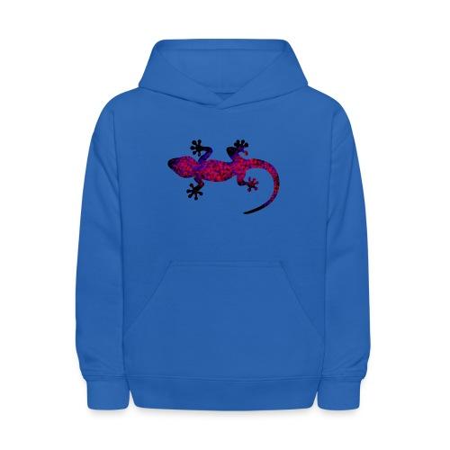 gecko blue red camouflage - Kids' Hoodie