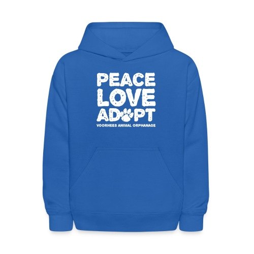 Peace Love Adopt Front png - Kids' Hoodie