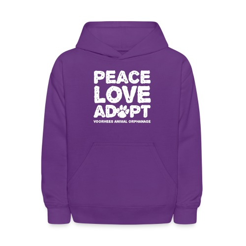 Peace Love Adopt Front png - Kids' Hoodie