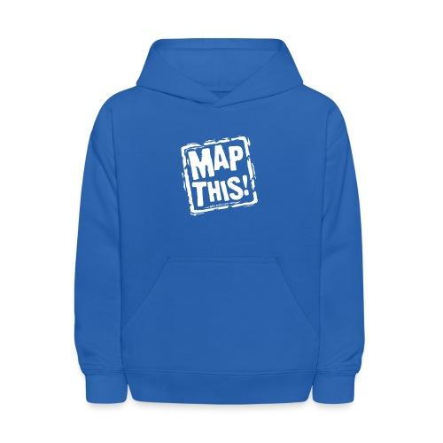 MapThis! White Stamp Logo - Kids' Hoodie