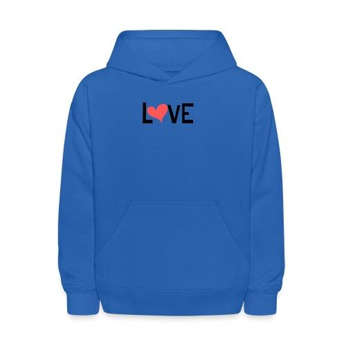 LOVE heart - Kids' Hoodie