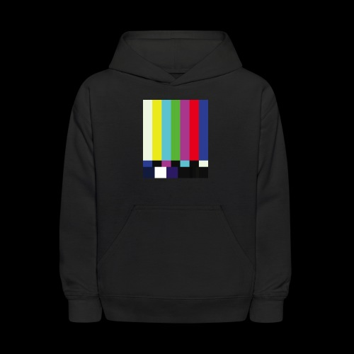 This is a TV Test   Retro Television Broadcast - Kids' Hoodie
