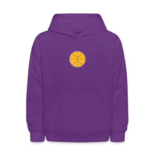 Basketball purple and gold - Kids' Hoodie