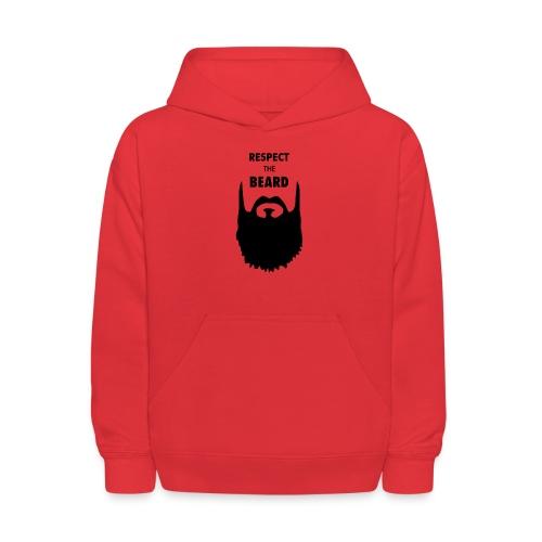 Respect the beard 09 - Kids' Hoodie