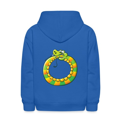 Crazy Snake Biting its own Tail - Kids' Hoodie