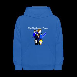 THE SKYGAMERS CREW HOODIE NEON BLUE - Kids' Hoodie