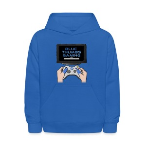 Blue Thumbs Gaming: Gamepad Logo - Kids' Hoodie
