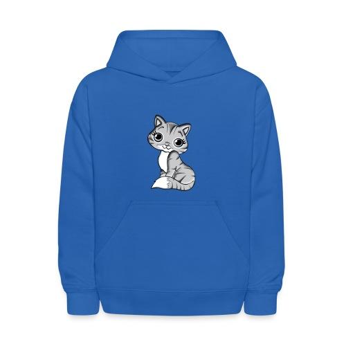 grey cat - Kids' Hoodie