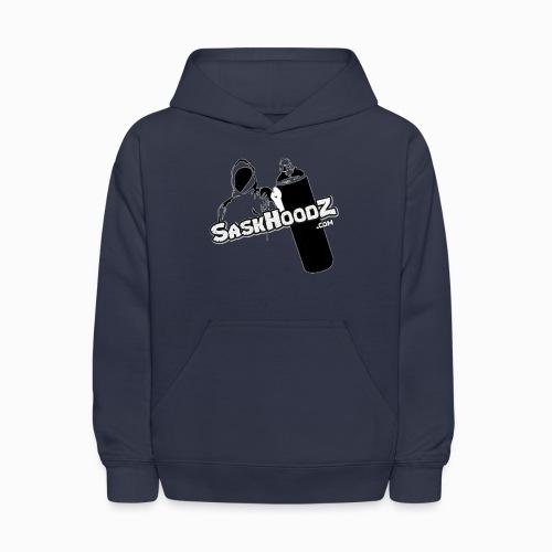 saskhoodz logo black - Kids' Hoodie