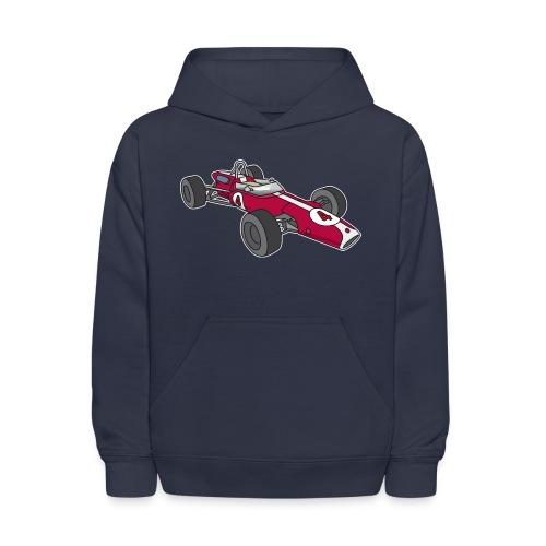 Red racing car, racecar, sportscar - Kids' Hoodie