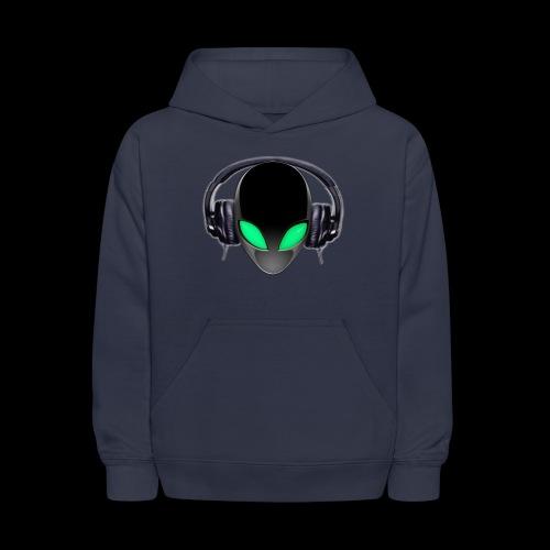 Alien Music Lover DJ (Simplified Fit All Design) - Kids' Hoodie
