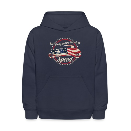 Life, Liberty and the Pursuit of Speed USA Hot Rod - Kids' Hoodie