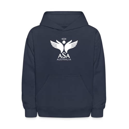3459 Angelman Logo AUSTRALIA FA WHITE LR - Kids' Hoodie