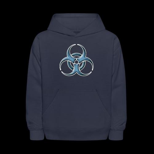Bio-hazard Stylized Blue Emblem - Kids' Hoodie