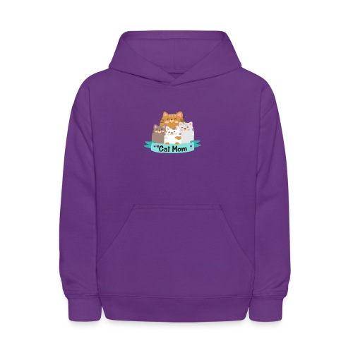 Cat MOM, Cat Mother, Cat Mum, Mother's Day - Kids' Hoodie