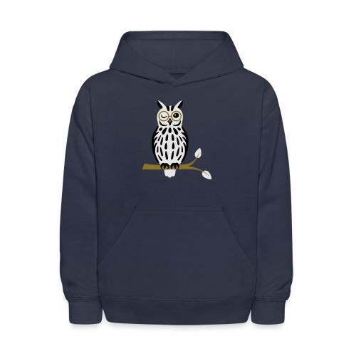Winky Owl - Kids' Hoodie