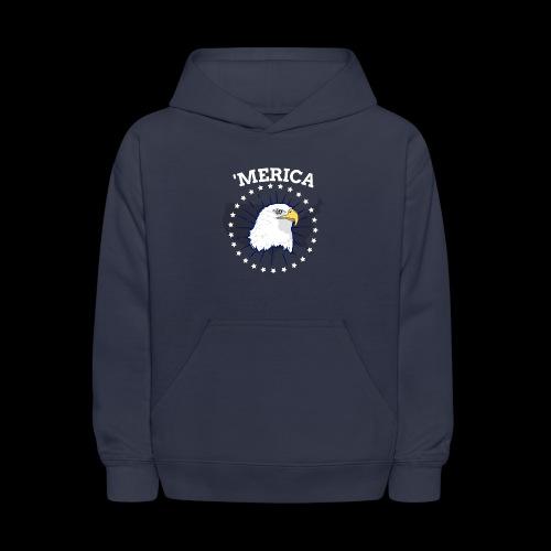 'Merica | American Bald Eagle - Kids' Hoodie
