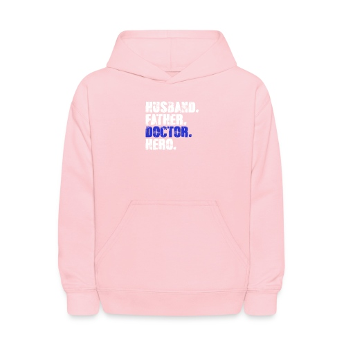 Father Husband Doctor Hero - Doctor Dad - Kids' Hoodie