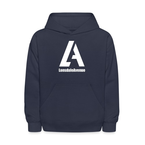 Lonsdale Avenue Logo White Text - Kids' Hoodie