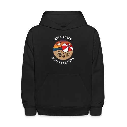 Kure Beach Sunrise-White Lettering-Front Only - Kids' Hoodie