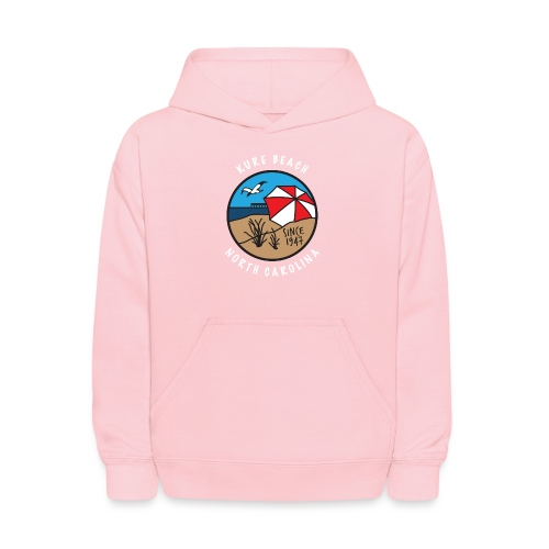 Kure Beach Day-White Lettering-Front Only - Kids' Hoodie