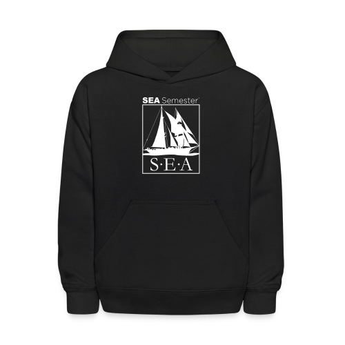SEA_logo_WHITE_eps - Kids' Hoodie