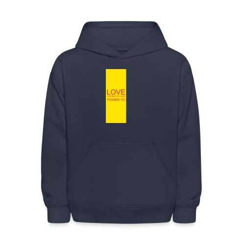 LOVE A WORD YOU GIVE POWER TO - Kids' Hoodie