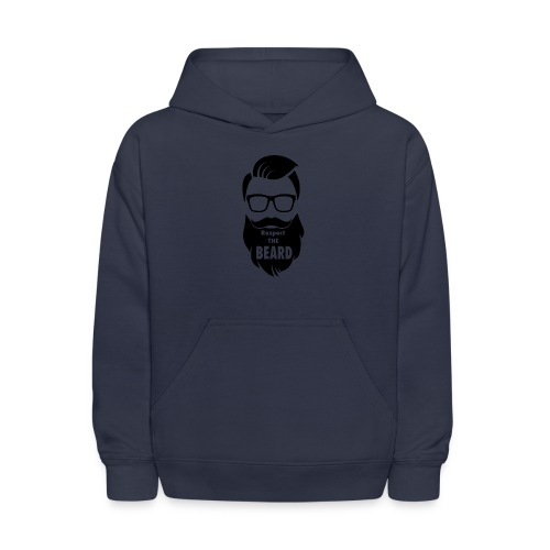 Respect the beard 08 - Kids' Hoodie