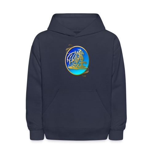 Gold Dragon 3 Oval - Kids' Hoodie
