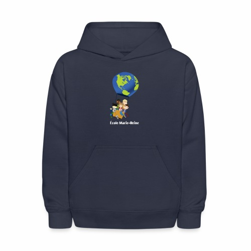Logo École Marie-Reine texte blanc - Molleton à capuche pour enfants