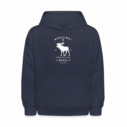 McGrath Meat Company White Stamp Logo - Kids' Hoodie