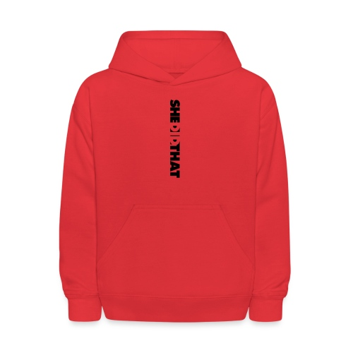 She Did That Large Design - Kids' Hoodie