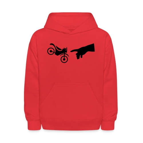 The hand of god brakes a motorcycle as an allegory - Kids' Hoodie