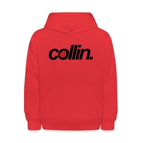Collin. (Black w/ Rose) - Kids' Hoodie