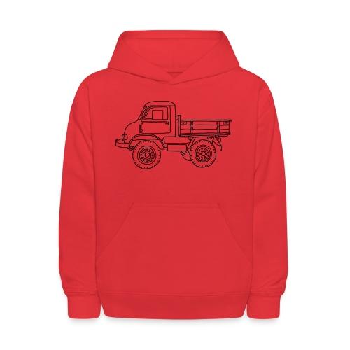 Off-road truck, transporter - Kids' Hoodie