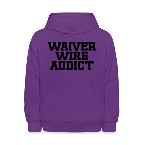 Waiver Wire Addict (Turquoise & Metallic Gold) - Kids' Hoodie