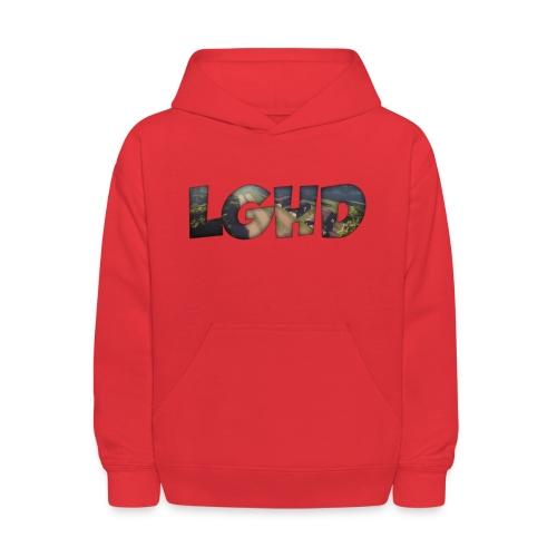 LGHD Rust Name png - Kids' Hoodie